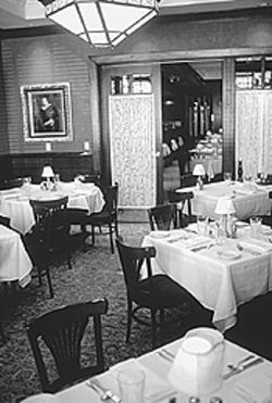 At your service: The Capital Grille dining room is ready  for a crowd.
