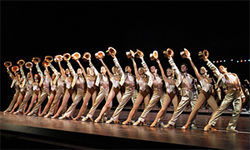 Dancing with the stars in A Chorus Line.