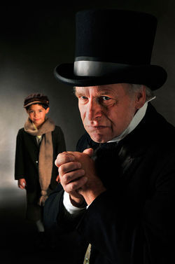 Addison Kleinhans and Bob Buckley in A Christmas Carol.