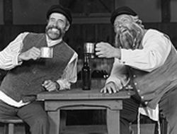Thaddeus Valdez and Marcus Waterman in Fiddler on the Roof.