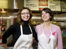 Marie Gibson and Adriana Aguilar take Melita's for a spin. See more photos here.