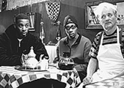 Smokin': GZA, RZA and Bill Murray enjoy life in  Coffee and Cigarettes.