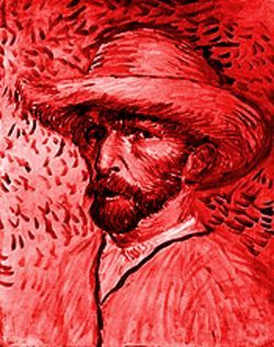 Vincent Van Gogh, &quot;Self-Portrait With a Straw Hat,&quot; painting.