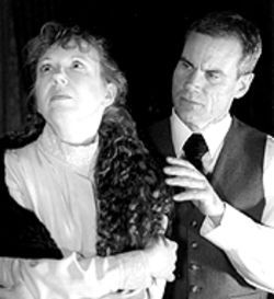 Diane Wziontka and Jim Whiteman in Hunger Artists' production of The Dead.