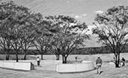 Sound of silence: The Columbine Memorial  Committee envisions a reflective monument in a grove  of trees.