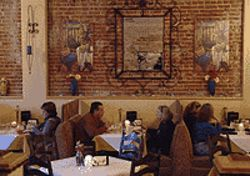 Sink or swim: The dining room of Sabor Latino is  pleasant -- when the Titanic theme isn't  playing.