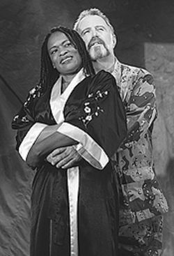 Kim Staunton and Michael Kevin in Antony and  Cleopatra.