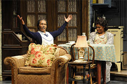 Marlene Warfield and Kim Staunton in A Raisin in the Sun.