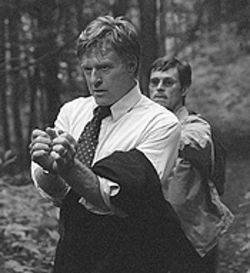 Male bonding: Robert Redford and Willem Dafoe take 