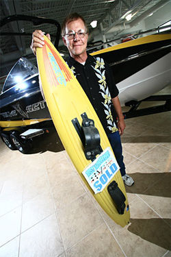 Life on Sheridan is a beach for water-sports entrepreneur Tommy Phillips.