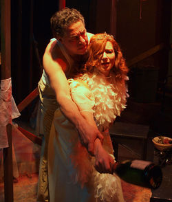 Thomas Borrillo and Michelle Moore in A Streetcar Named Desire.