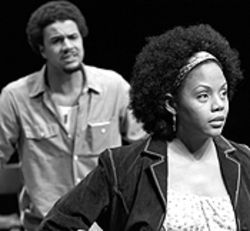C.J. Lindsey and Erika LaVonn in Jitney.