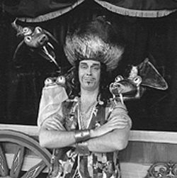 Jeffrey Atherton in Aladdin and the Glass Slipper.