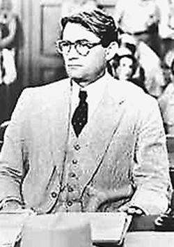 Gregory Peck in To Kill A Mockingbird, at the  Denver Public Library.