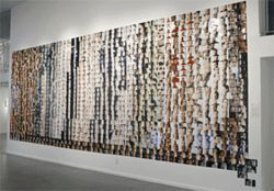 "Installation view of 1,200 photos from the ""Self  Series,"" by Jason Patz."