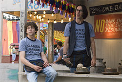 Jesse Eisenberg and Martin Starr in Adventureland.