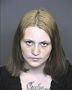 Nadine Montoya posed for a mug shot after her arrest for the hit-and-run killing of Lilian Verdonkschot.