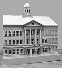 Building for the future: An intern at an architectural firm  created this idealized model of the Evans school.