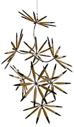 """Black-Tipped Flowers From the Garden,"" by James  Surls, carved wood and metal."