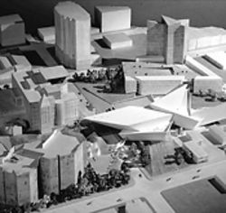 Daniel Libeskind's model for the DAM expansion.