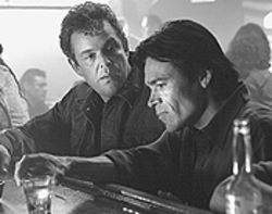 Trouble brewing: Danny Huston and Sal Lopez are  awash in Silver City.