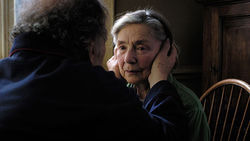Jean-Louis Trintignant and Emmanuelle Riva star in Amour.