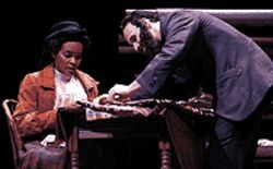 Debbie Johnson Lee and Neil Necastro Jr. in  Intimate Apparel.