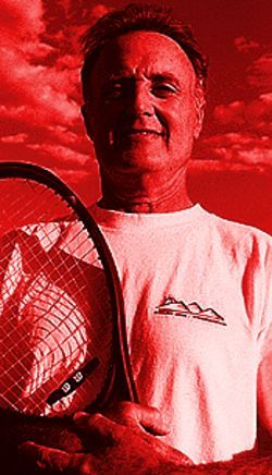 Winning is the only thing: Larry Gabler coaches the Denver Tennis Club's 4.5 men's team.