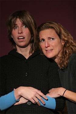 Kjersti Ingela Webb (left) and  Rebecca Brown Adelman in And Baby Makes Seven.