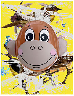 """Monkey Train (Birds),"" by Jeff Koons, silkscreen."