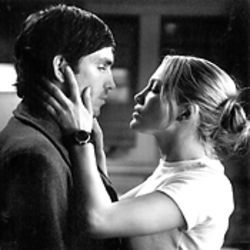 The eyes have it: Jim Caviezel's mysterious peepers draw in Jennifer Lopez in Angel Eyes.