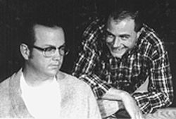 Steve Tobias (left) and Nolan Patterson in The Zoo Story .