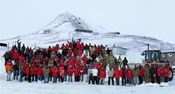 A group shot at McMurdo Station last May.