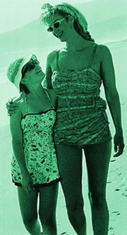 Life's a beach: Kimberly J. Brown and Janet McTeer in  Tumbleweeds.