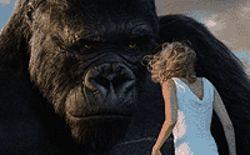 Things get primitive when a big, hairy fellow meets a  sweet gal in King Kong.