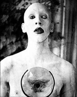 Marilyn Manson: Scary bald man.