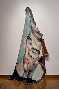 &quot;Shroud,&quot; by Zach Reini, custom machine-woven blanket.