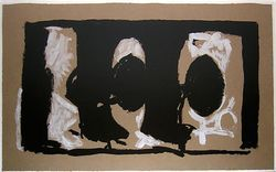 """Elegy Study I,"" by Robert Motherwell, lithograph. Slide show: Images from AB-EX: Positions and Dispositions"