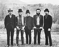 Helm (second from left) in happier days with the Band.