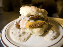 """The Franklin"" from Denver Biscuit Co. See a full slideshow from the Atomic Cowboy."