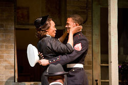 Kim Staunton and Calvin Dutton in Fences.