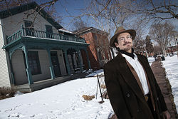 "Gregorio Alcaro, who offers tours of Ninth Street Park, views the current frenzy of development at Auraria as ""a slap in the face."""
