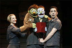 Maggie Lakis, Nicky, Rod and Robert McClure in Avenue Q.