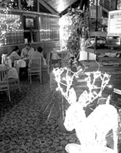 A room for all seasons: Bastien's could be decorated  for Christmas 1958.