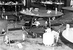 Harris and Klebold planted two propane bombs in the cafeteria; had they exploded, the bombs could have killed more people than the explosions in Oklahoma City.