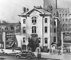 The work of Herndon Davis evokes Denver in the '40s.