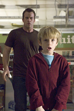 Thomas Jane and Nathan Gamble battle the unknown in The Mist.