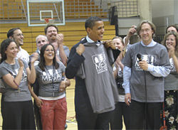 Barack Obama visited Mike Johnston and MESA students on the last day of school in May.