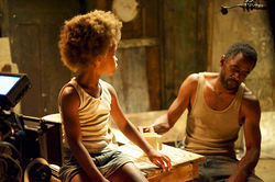 Quvenzhané Wallis and Dwight Henry star in Beasts of the Southern Wild.