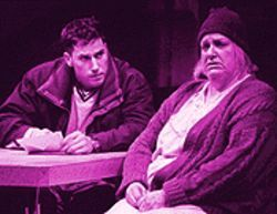 Poor, poor pitiful she: Ryan Artzberger and Kathleen M. Brady in The Beauty Queen of Leenane.